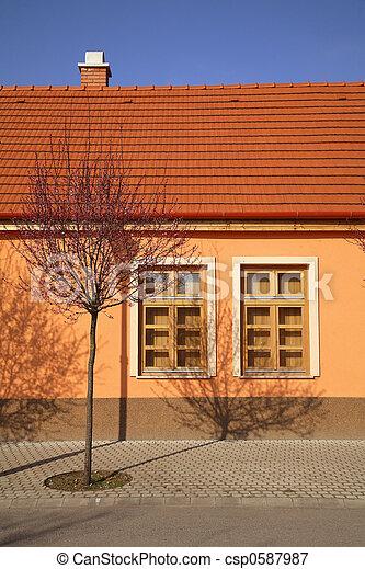 springtime in village - csp0587987