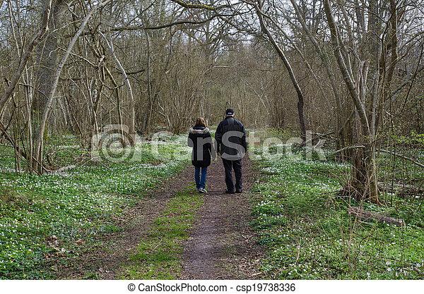 Springtime recreation walk - csp19738336