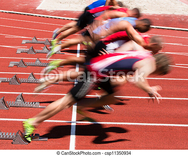 sprint start in track and field - csp11350934