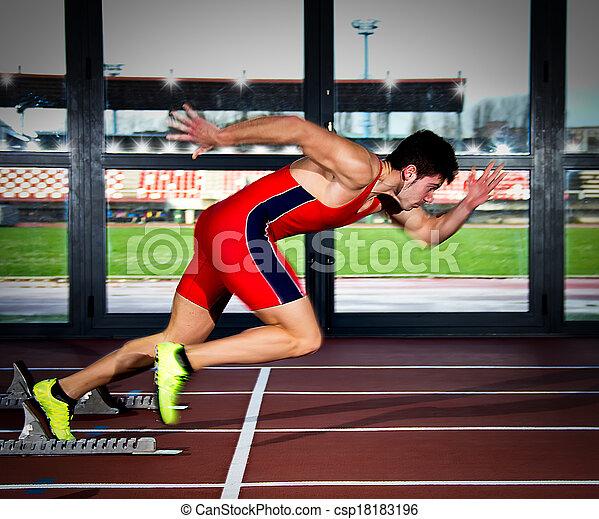 sprinter man - csp18183196