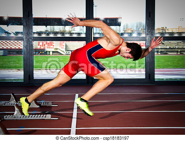 sprinter man - csp18183197