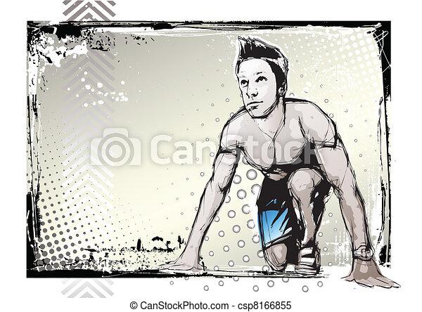 sprinter poster - csp8166855