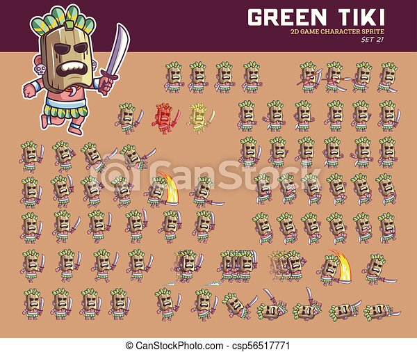 Espíritu de dibujos animados verdes - csp56517771