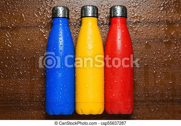 Spruta vatten flaskor