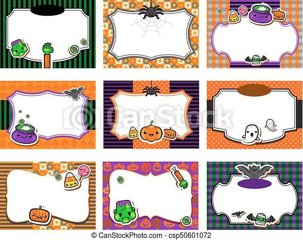 Sprytny Komplet Halloween Zaproszenia Kawaii Halloween