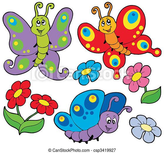 sprytny, motyle, różny - csp3419927