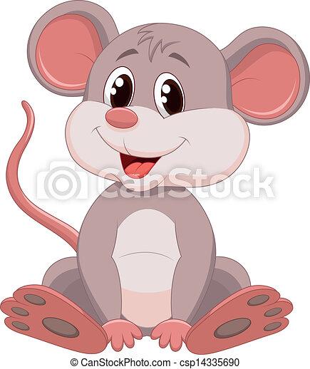 sprytny, mysz, rysunek - csp14335690