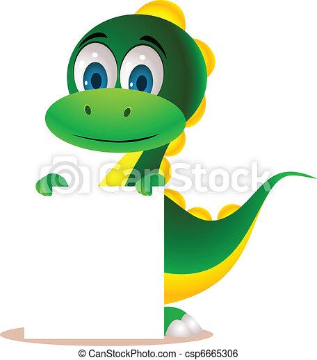 sprytny, rysunek, dinozaur - csp6665306