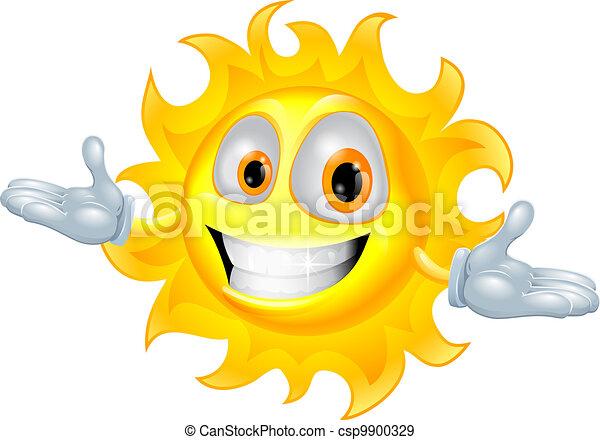 sprytny, słońce, litera, rysunek, maskotka - csp9900329