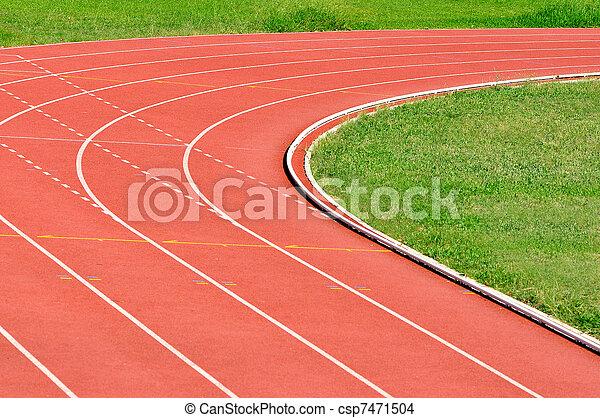 spur, athletik, rennender  - csp7471504