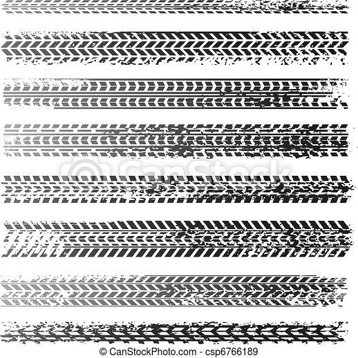 Reifenspuren - csp6766189