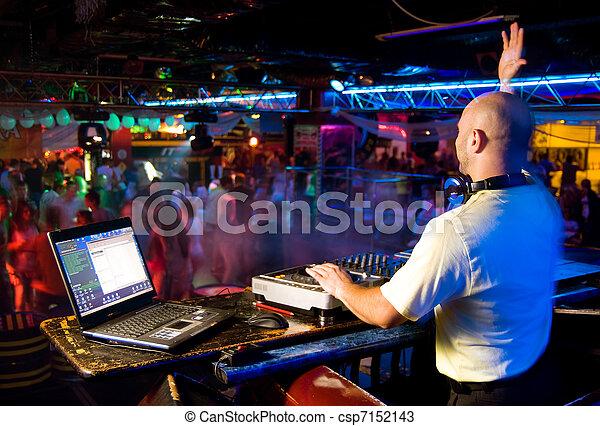 spur, party, mischt, dj, nachtclub - csp7152143