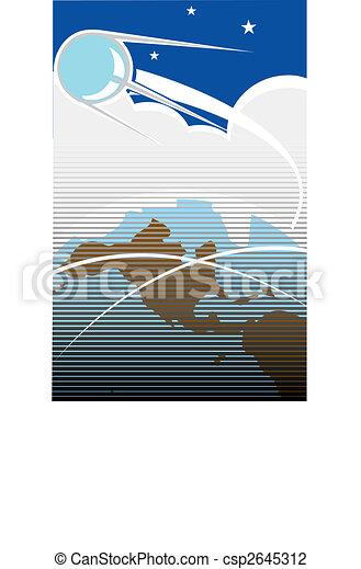 sputnik, 2, vôo - csp2645312