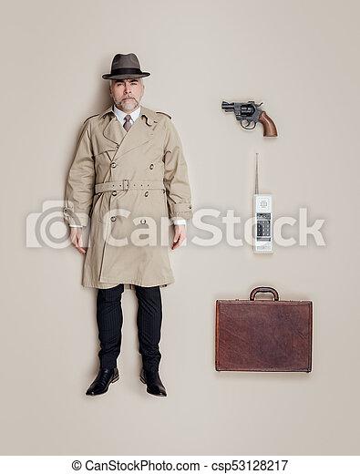 Spy agent lifelike doll - csp53128217