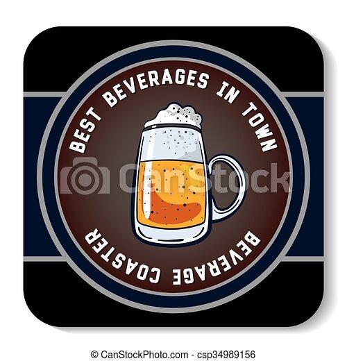 Square Beverage Coaster Color - csp34989156