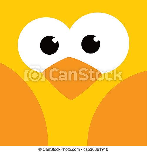 square bird face icon button - csp36861918