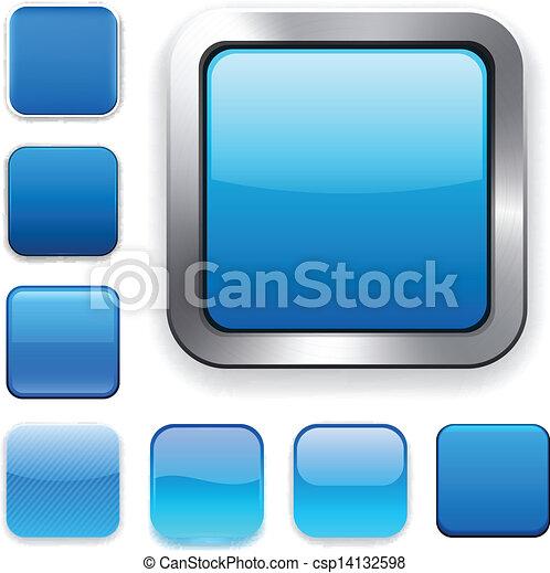 Square blue app icons. - csp14132598