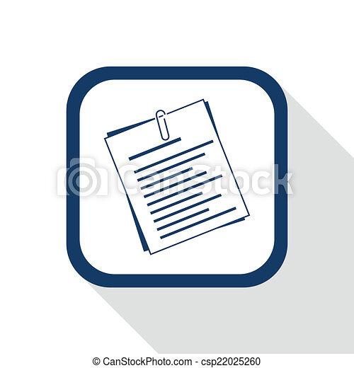 square blue icon document - csp22025260