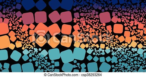 Square blue orange violet gradient geometrical abstract background - csp38293264