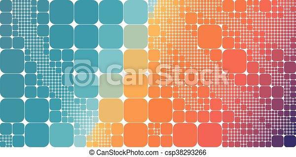 Square blue orange violet gradient geometrical abstract background - csp38293266