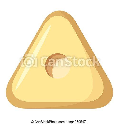 Square button icon, cartoon style - csp42895471