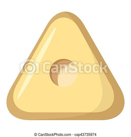 Square button icon, cartoon style - csp43735974