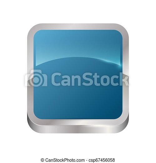 square button isolated icon - csp67456058