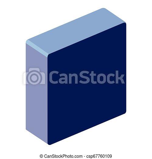square button isometric icon - csp67760109