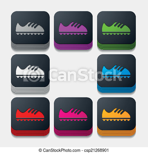 square button: sneakers - csp21268901