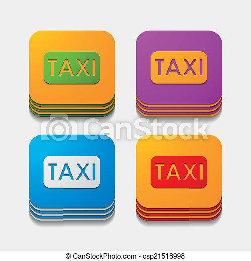 square button: taxi - csp21518998