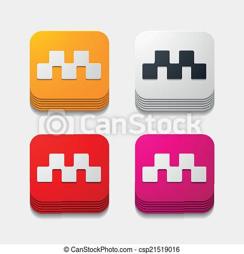 square button: taxi - csp21519016