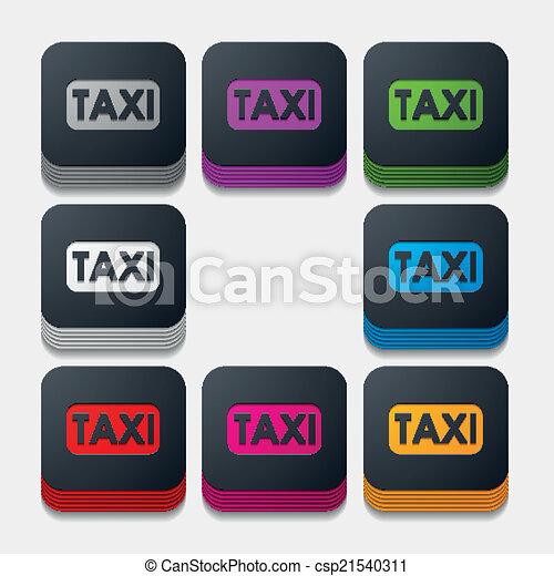 square button: taxi - csp21540311