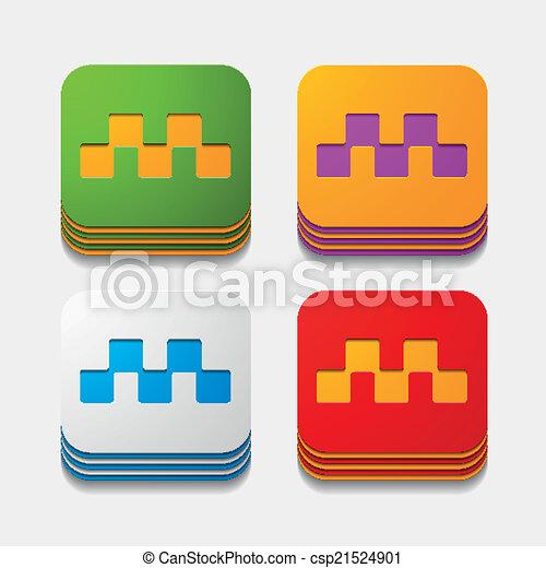 square button: taxi - csp21524901