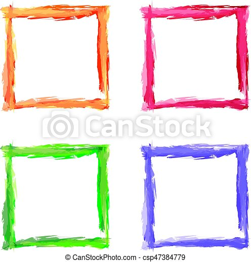 Square color abstract shape frame vector art illustration.
