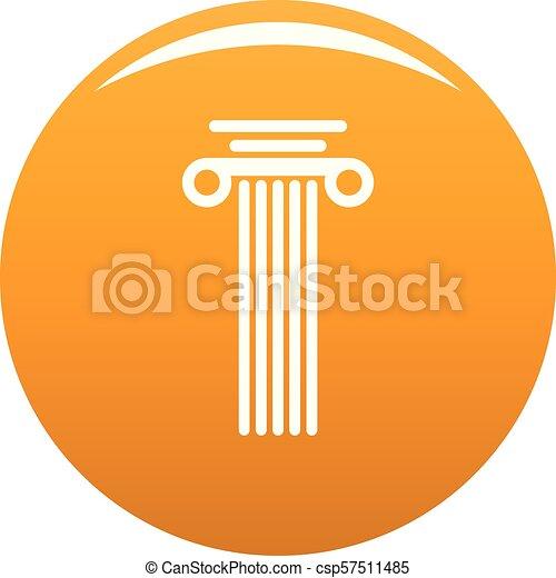 Square column icon vector orange - csp57511485