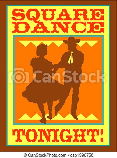 Square Dance Polka Dancing Clip Art - csp1396758