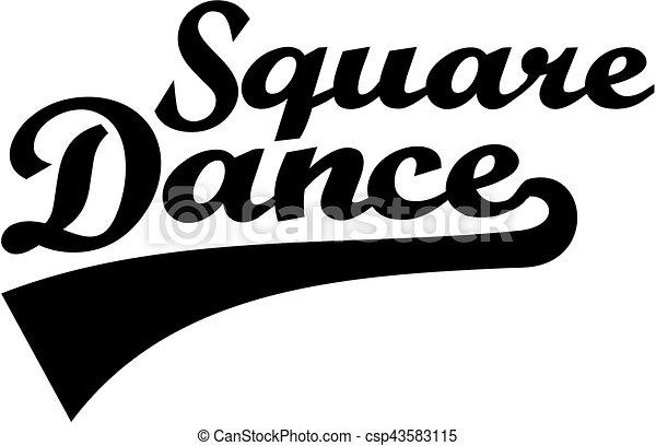 Square dance retro word - csp43583115