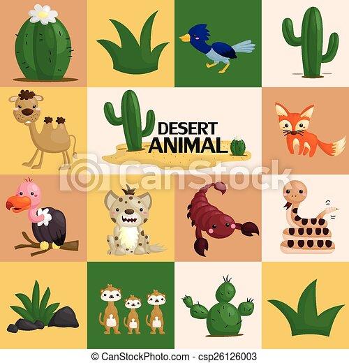 Square Desert Animal Vector - csp26126003