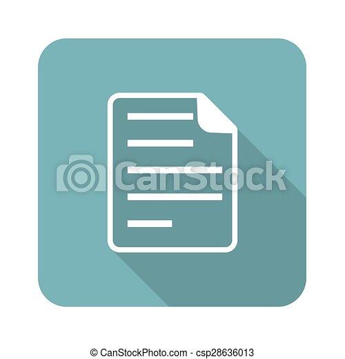 Square document icon - csp28636013
