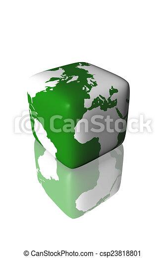 Square Earth Map.Square Earth Globe Map
