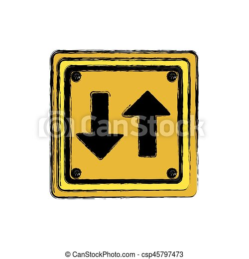 square emblem notice with sign icon - csp45797473