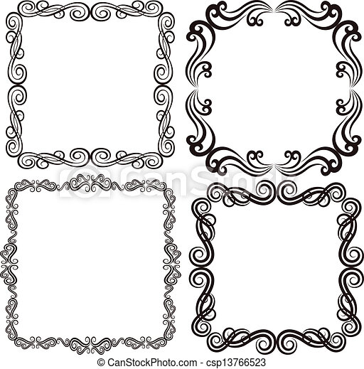 square frame vector - Drawing Frame