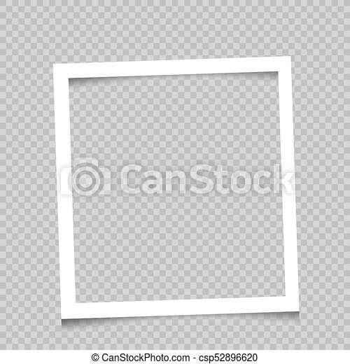 Square frame transparent background. Paper white square art frame ...