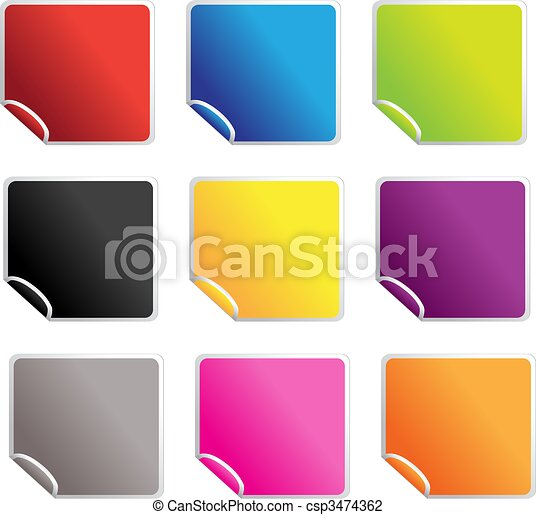 square glossy stickers - csp3474362