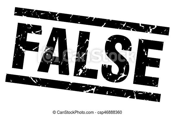 square grunge black false stamp - csp46888360