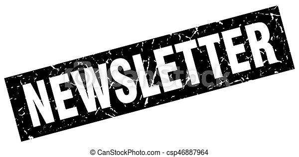 square grunge black newsletter stamp rh canstockphoto com newsletter clip art images newsletter clipart graphics