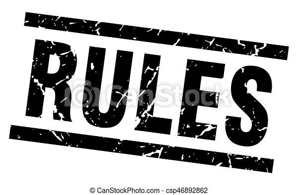 square grunge black rules stamp - csp46892862