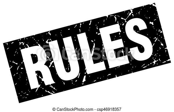 square grunge black rules stamp - csp46918357