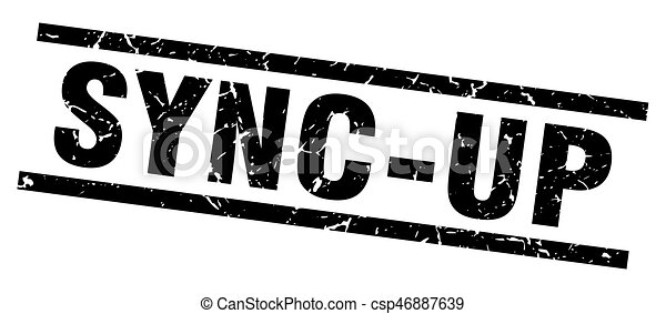square grunge black sync-up stamp - csp46887639