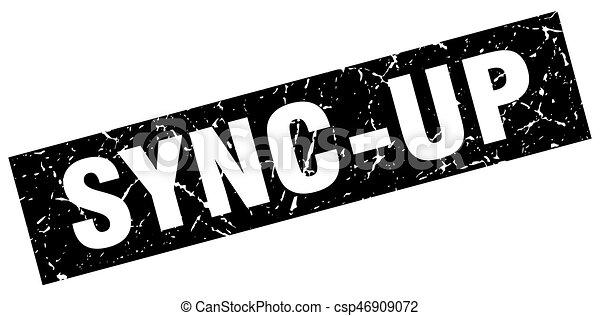 square grunge black sync-up stamp - csp46909072